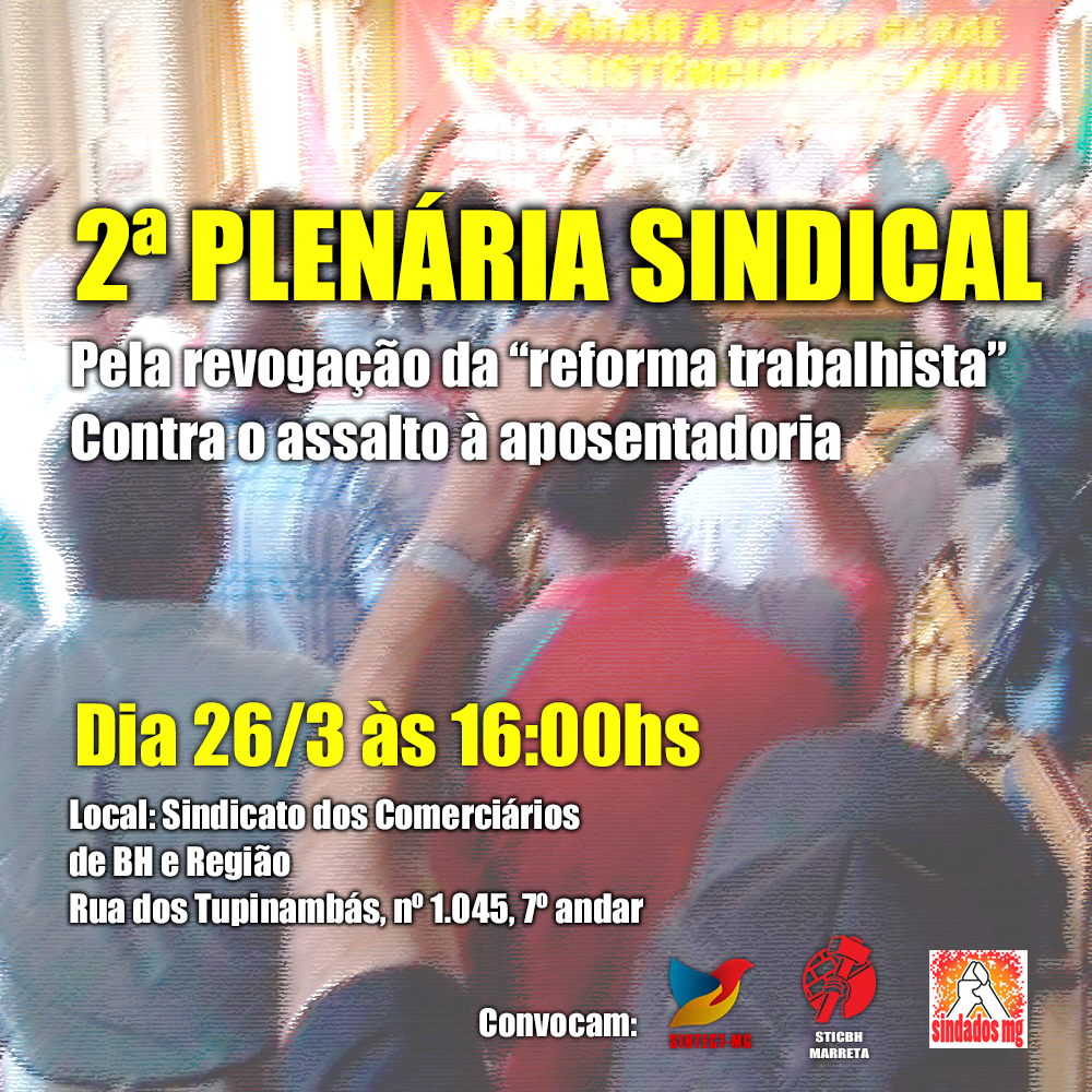 2ª Plenária Sindical – Dia 26/3